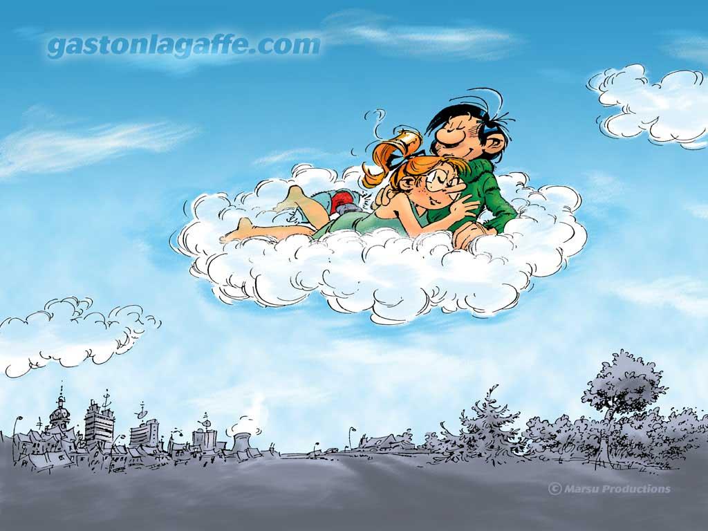 Gaston lagaffe et ses amis for Fond ecran humoristique